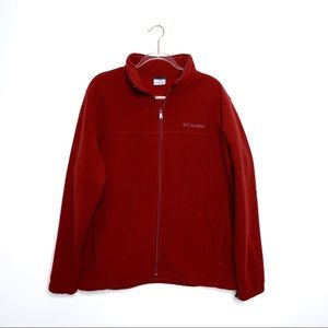 Columbia Full Zip Cranberry Red Jacket (M26)